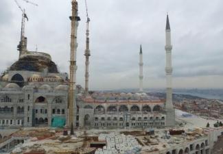 Çamlıca Camii'nde son durumu gösteren 10 kare