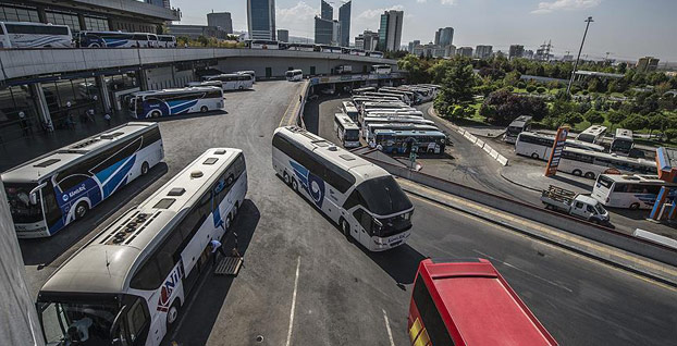 Otobüs firmalarına bayram tatili için ek sefer izni
