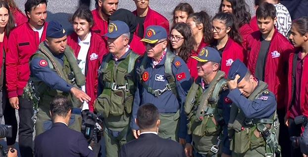 Başkan Erdoğan TEKNOFEST'e böyle geldi | FOTO - VİDEO