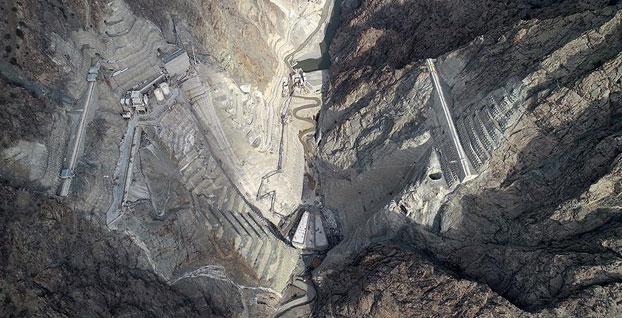 Yusufeli Barajı ve HES çalışmalarında sona doğru   FOTO