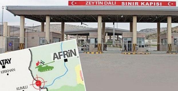 Afrin'e açılan Zeytin Dalı Gümrük Kapısı faaliyette