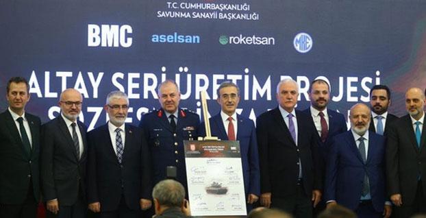 Milli tank Altay'ın seri üretim sözleşmesi imzalandı | VİDEO