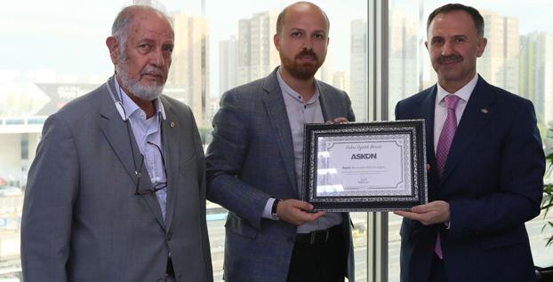 Bilal Erdoğan ASKON'un fahri üyesi oldu