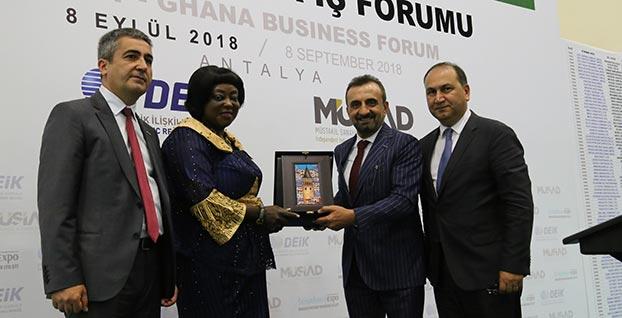 Türk ve Ganalı iş insanları Antalya'da buluştu