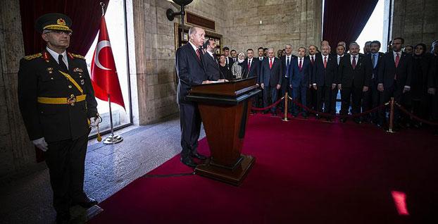 Başkan Erdoğan'dan Anıtkabir'de Yeni Havalimanı vurgusu