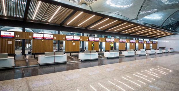 İstanbul Havalimanı'nın iç mimarisinde göz alan tasarım