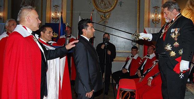 Türk iş adamı yurt dışında şövalye ilan edildi