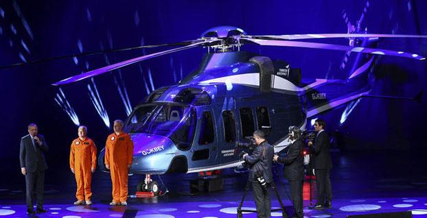 Erdoğan duyurdu... Yerli helikopterin ismi  'Gökbey' oldu