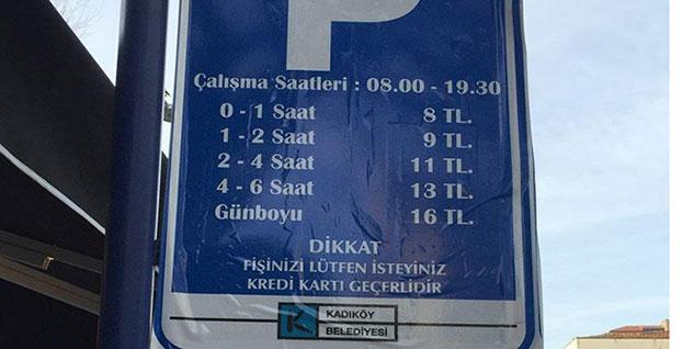 Kadıköy Belediyesi'nden otopark ücretine zam