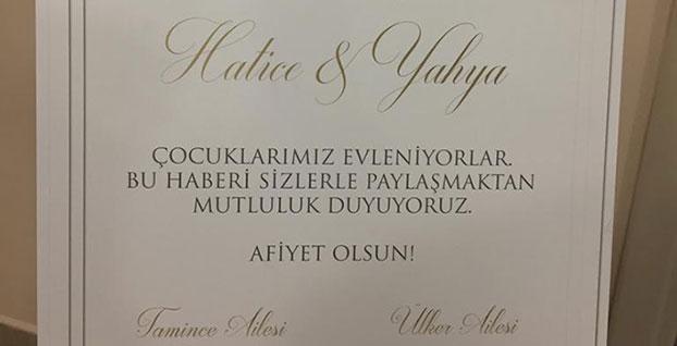 Erdoğan'dan tebrik... Ülker ve Tamince'nin çocukları evlendi