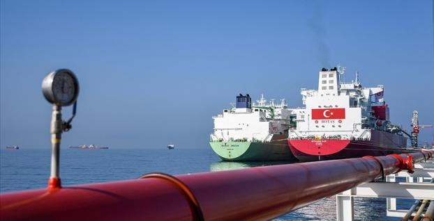 Ertuğrul Gazi'ye ilk LNG nakli sevkiyatı yapıldı