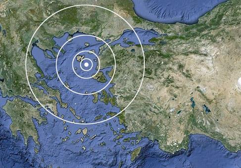 Eceabat açıklarında korkutan deprem