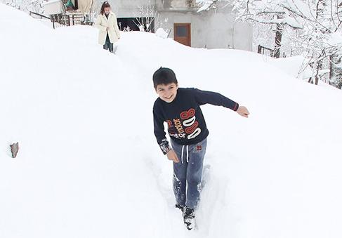 Samsun Salıpazarı'nda eğitime kar engeli