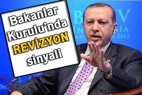 Erdoğan'dan kabinede değişiklik sinyali geldi