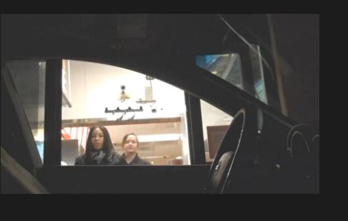 Hayalet sürücü fena korkuttu  (Video)