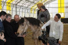Cumhurbaşkanı Gül, Uşak'ta cirit attı, ata şeker verdi