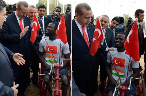 Erdoğan'dan Tahir'e akülü sandalye