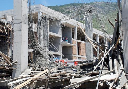 Olimpik köy inşaatında göçük: 6 yaralı