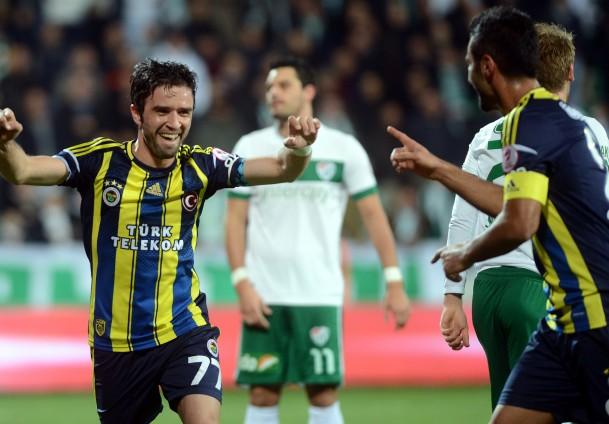 Bursaspor- Fenerbahçe maçında 5 gol