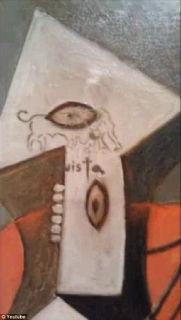Picasso tablosuna zarar veren zanlı tutuklandı
