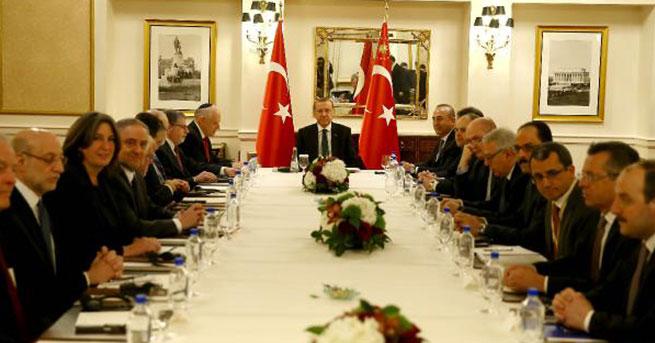 Erdoğan ABD'de Musevi kuruluşlarının temsilcileriyle görüştü