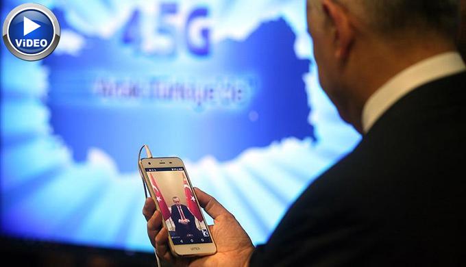 İlk 4.5G görüşmesi Erdoğan ve Yıldırım arasında (Video)