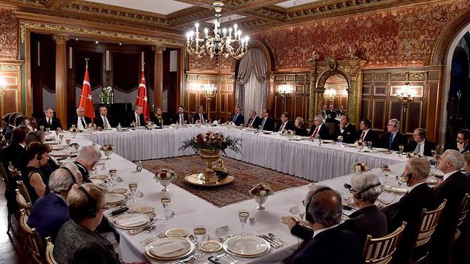 Erdoğan ABD'li kanaat önderleriyle görüştü