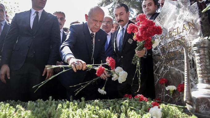 Alparslan Türkeş mezarı başında anıldı