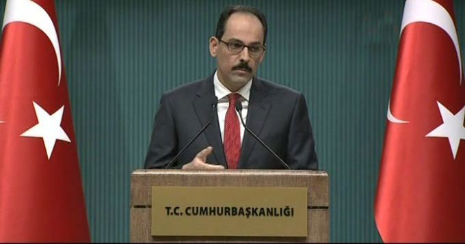 C.Başkanlığı Sözcüsü Kalın'dan 'Rusya'ya mektup' açıklaması
