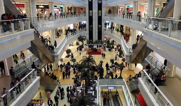 AVM ciro endeksi yüzde 18,3 arttı