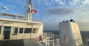 LNG depolama ve gazlaştırma gemisi 'Ertuğrul Gazi'ye Türk bayrağı çekildi