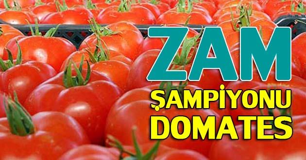 Ekimin zam şampiyonu domates