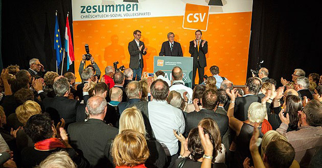 Lüksemburg'da zafer CSV'nin