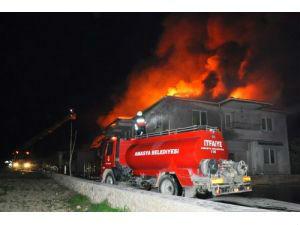 Amasya'da süt fabrikasında yangın