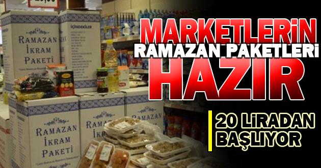 Ramazan paketi 20 liradan başlıyor