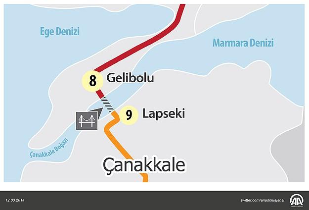 Çanakkale Boğazı'na dünyanın en uzun köprüsü