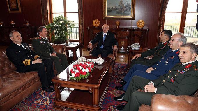 TBMM Başkanı Kahraman, Genelkurmay Başkanı Akar'ı kabul etti
