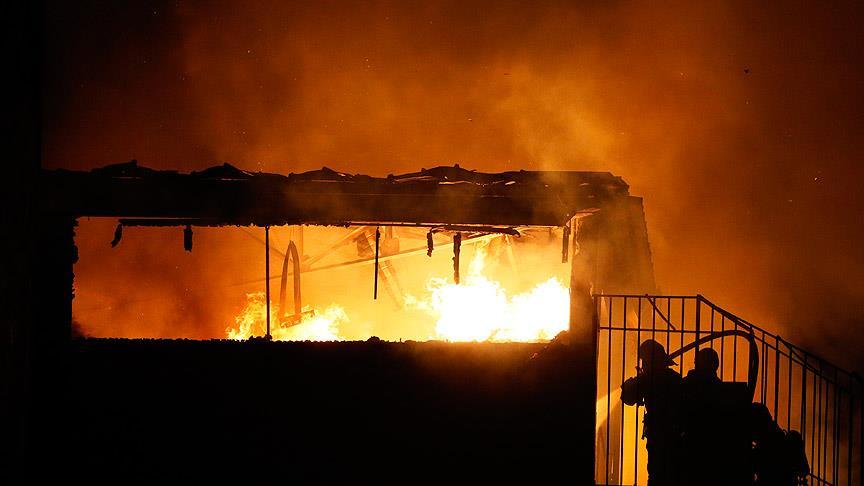 Erbil'de otel yangını: 17 ölü
