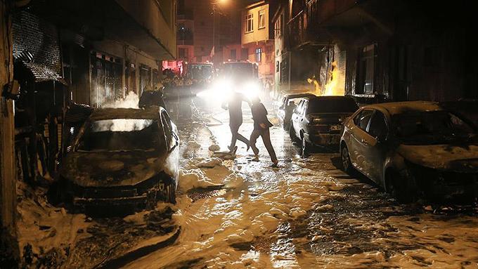 İstanbul Eyüp'te facianın eşiğinden dönüldü
