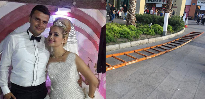 AVM'de yeni evli çiftin başına gelen görünmez kaza