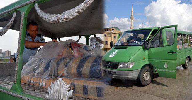 Adana'da plakasız cenaze aracı alarmı