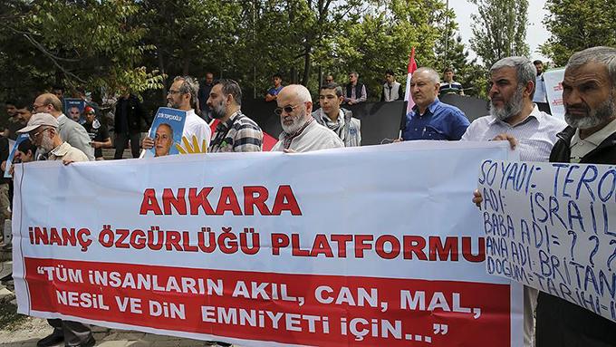 Ankara'da İsrail'e kuruluş yıl dönümü protestosu