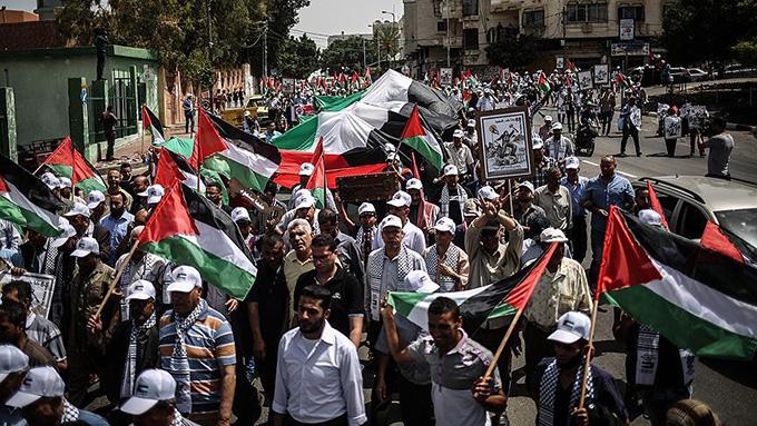 Gazze'de Nekbe yürüyüşü