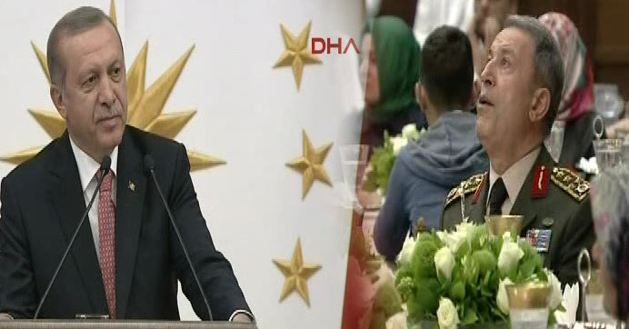 Erdoğan'ın sözleri Genelkurmay Başkanı Akar'ı duygulandırdı