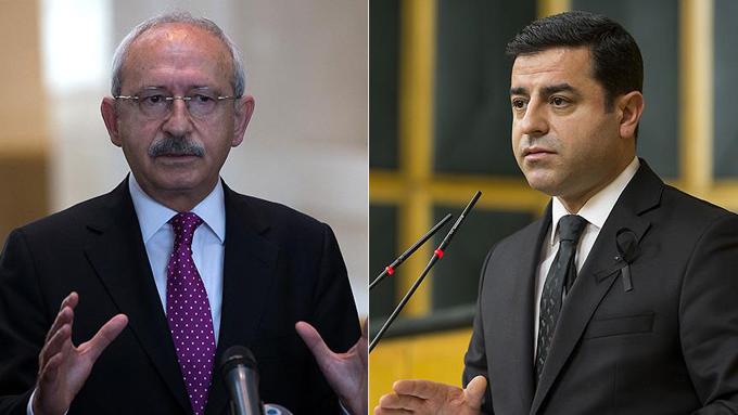 Kılıçdaroğlu ve Demirtaş hakkındaki fezlekeler Başsavcılıkta