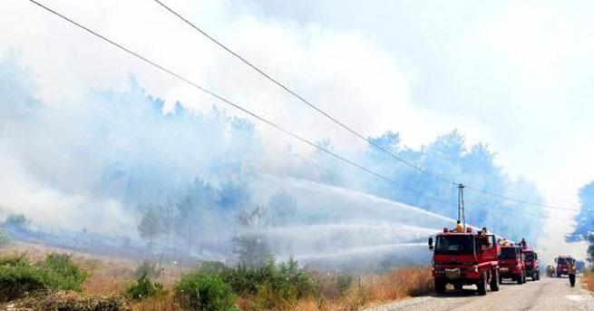 Antalya'daki yangınlar kontrollü sürüyor