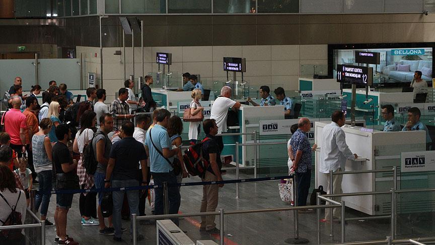 Turistin yüzde 69,4'ü havadan geldi