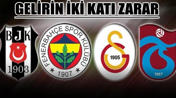Galatasaray borçta, Beşiktaş zararda lider!